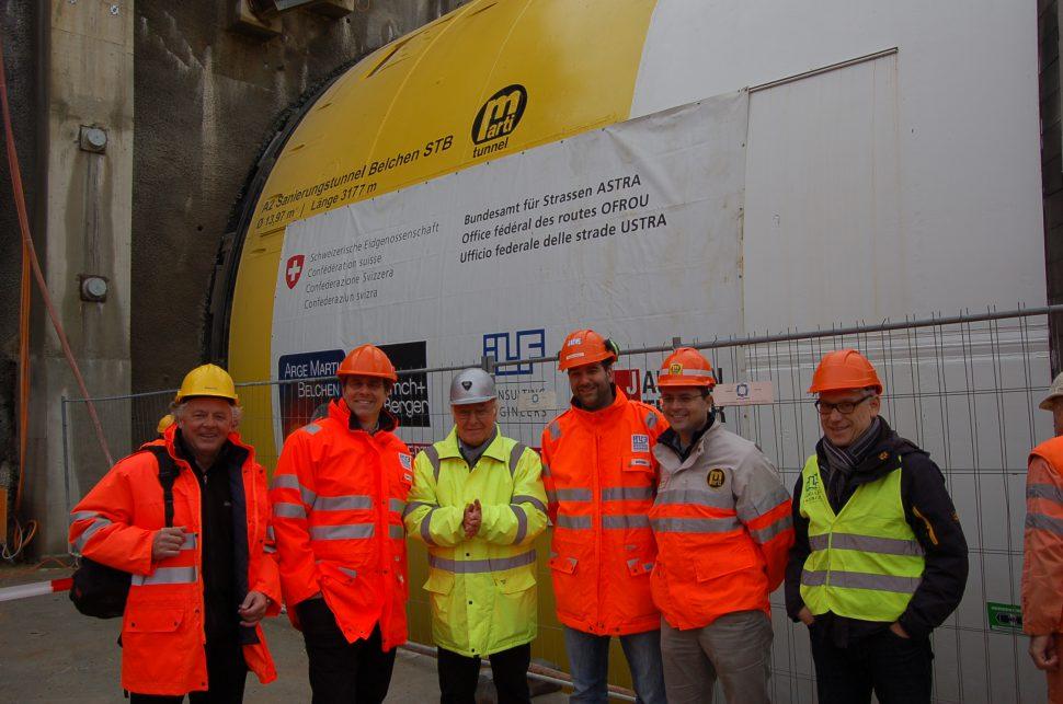 Konrad Blank, Dr. Michael Hertweck, Dr. Martin Herrenknecht, Sebastian Böheim, Olivier Balmer (Marti Geschäftsführung TUAG) und Dr. Markus Schwalt
